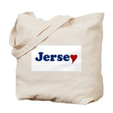 Jersey with Heart Tote Bag
