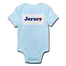 Jersey with Heart Infant Bodysuit