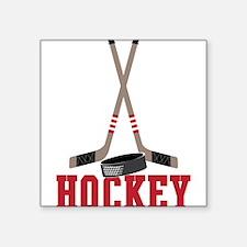 "Hockey Square Sticker 3"" x 3"""