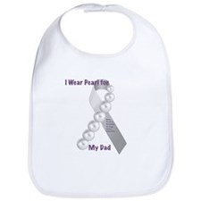 I Wear Pearl for My Dad Bib