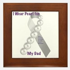 I Wear Pearl for My Dad Framed Tile