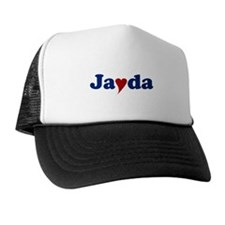 Jayda with Heart Trucker Hat