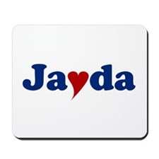 Jayda with Heart Mousepad