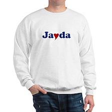 Jayda with Heart Sweatshirt