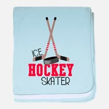 Hockey Ice Skater baby blanket
