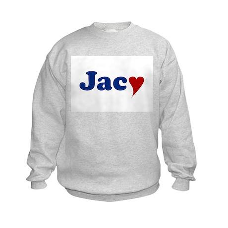 Jacy with Heart Kids Sweatshirt