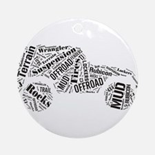 Jeep Word Cloud Ornament (Round)