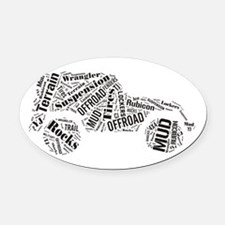 Jeep Word Cloud Oval Car Magnet