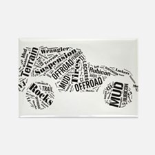 Jeep Word Cloud Rectangle Magnet