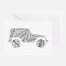 Jeep Word Cloud Greeting Card