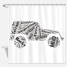 Jeep Word Cloud Shower Curtain