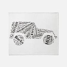 Jeep Word Cloud Throw Blanket