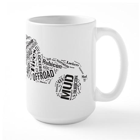Jeep Word Cloud Large Mug