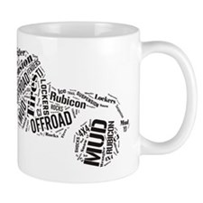 Jeep Word Cloud Mug