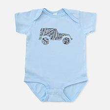 Jeep Word Cloud Infant Bodysuit