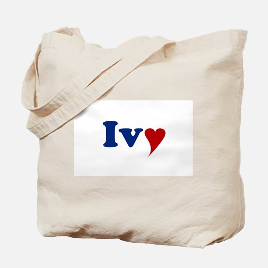 Ivy with Heart Tote Bag