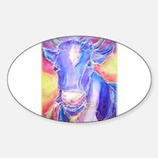 Cow! Colorful, art! Decal