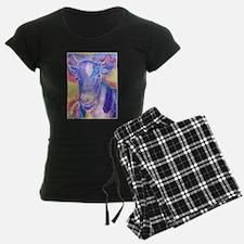Cow! Colorful, art! Pajamas