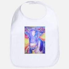 Cow! Colorful, art! Bib