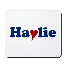 Haylie with Heart Mousepad