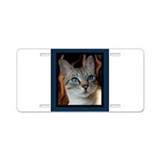 Blue Eyed Kitty Aluminum License Plate