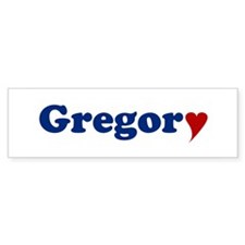 Gregory with Heart Bumper Sticker