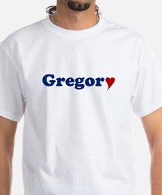Gregory with Heart Shirt
