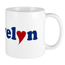 Evelyn with Heart Mug