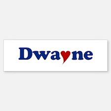 Dwayne with Heart Bumper Bumper Sticker