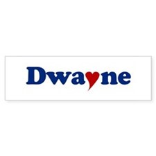 Dwayne with Heart Bumper Sticker