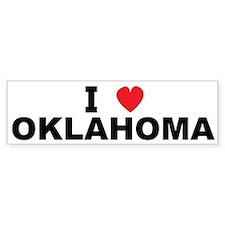 I Love Oklahoma Bumper Bumper Sticker