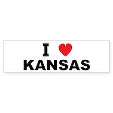 I Love Kansas Bumper Bumper Sticker