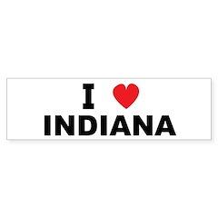 I Love Indiana Bumper Bumper Sticker