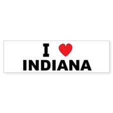 I Love Indiana Bumper Bumper Sticker