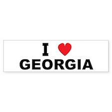 I Love Georgia Bumper Bumper Sticker
