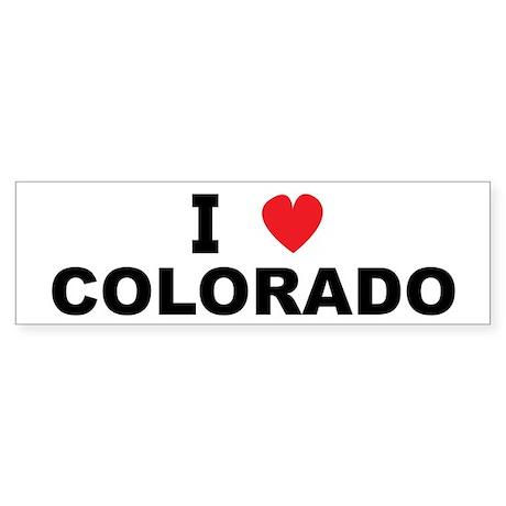 I Love Colorado Bumper Sticker