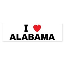 I Love Alabama Bumper Bumper Sticker