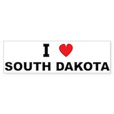 I Love South Dakota Bumper Bumper Sticker