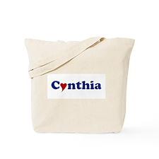 Cynthia with Heart Tote Bag