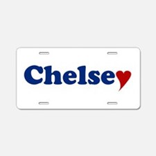 Chelsey with Heart Aluminum License Plate