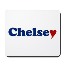 Chelsey with Heart Mousepad
