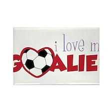 Love My Goalie Rectangle Magnet