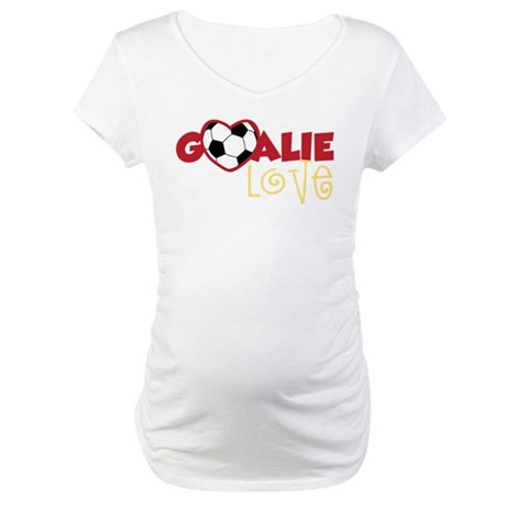 Goalie Love Maternity T-Shirt