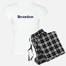 Brayden with Heart Pajamas