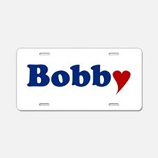 Bobby with Heart Aluminum License Plate