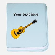 Customizable Guitar baby blanket
