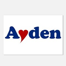 Ayden with Heart Postcards (Package of 8)