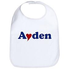 Ayden with Heart Bib