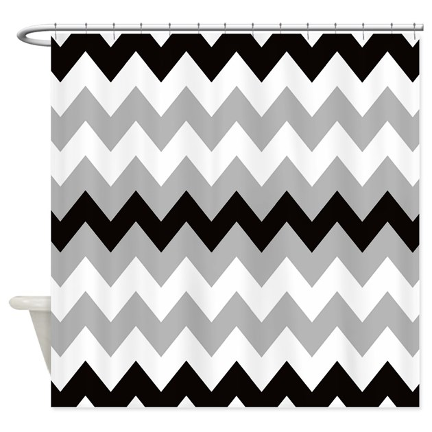 Black Gray And White Stripe Shower Curtain By Chevroncitystripes