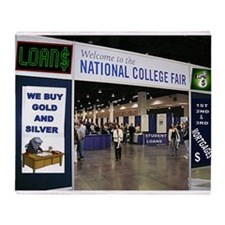 COLLEGE ADMISSION Throw Blanket